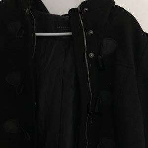 black peacoat jacket